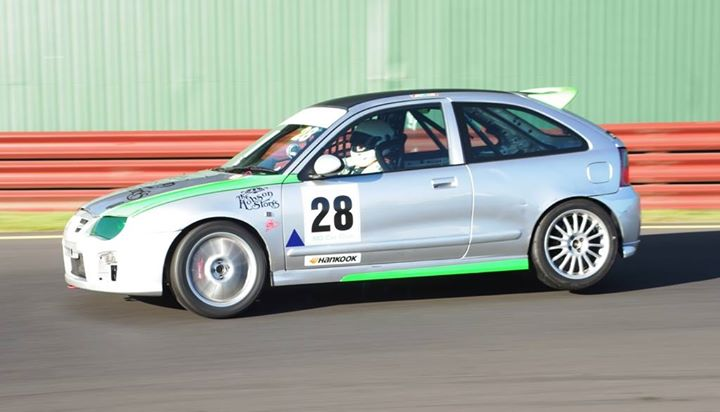 Paul Vernall's MG ZR 160 his father David will drive at Winton