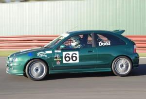 Jim Dodd's MG ZR 160 in striking BRG colour