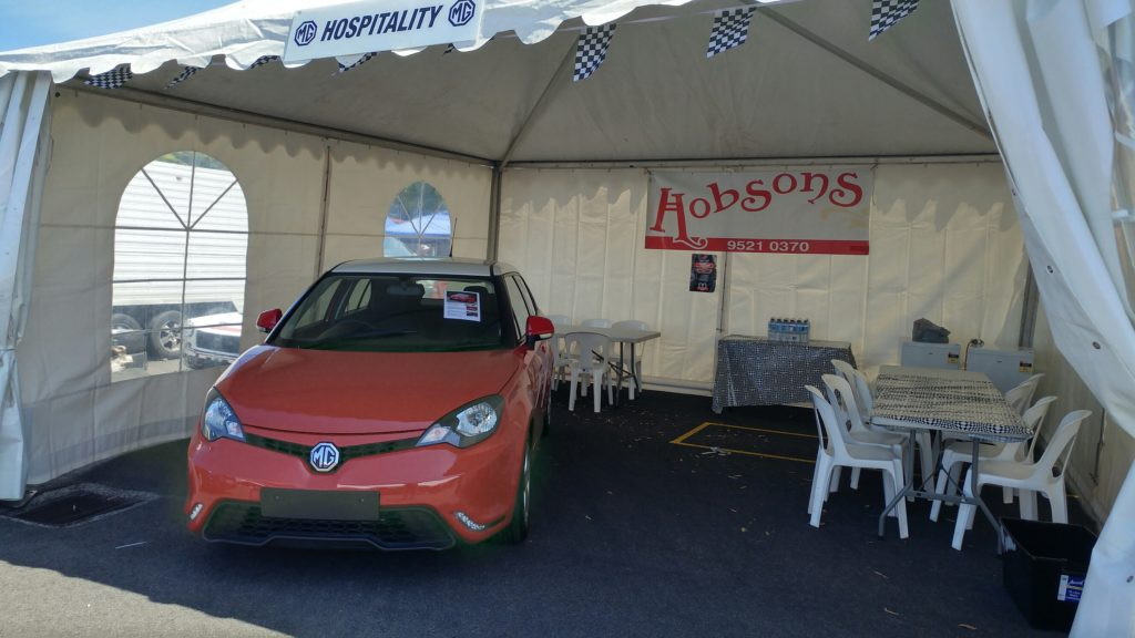 2017 MG 3 on display in Hobsons Hospitality tent